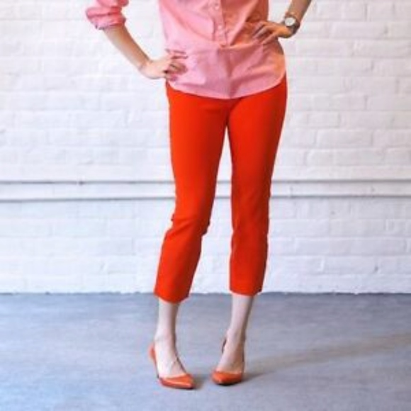 J. Crew Pants - J. Crew Minnie Pants in Red Stretch Twill